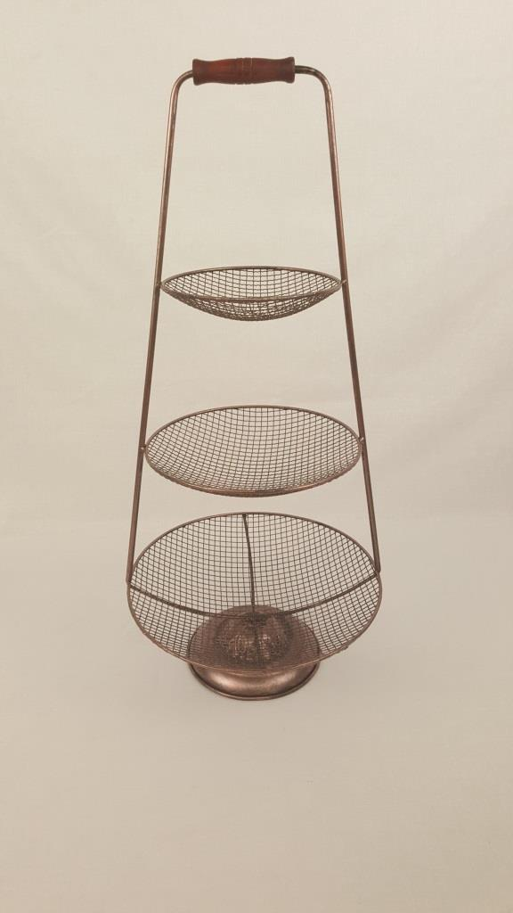 3 Tier Wire Stand Copper 65 X 30cm Jalan Imports
